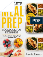 Meal Prep the Complete Meal Prep Cookbook for Beginners Your Essential Guide to Losing Weight and Saving Time by Lynda Rhodes