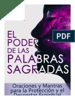 EL PODER DE LAS PALABRAS SAGRADAS Oraciones y Man