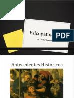 Antecedentes historicos de la psicopatología