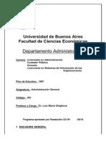 Programa - Administración General