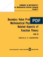 (Seminars in Mathematics 11) N. M. Ivochkina, A. P. Oskolkov (auth.), O. A. Ladyzhenskaya (eds.)-Boundary Value Problems of Mathematical Physics and Related Aspects of Function Theory-Springer