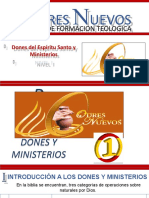 DONES DEL ESPIRITU SANTO Y MINISTERIOS