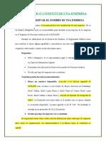 REGISTRAR O CONSTITUIR UNA EMPRESA