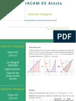 La integral definida. Cálculo de área entre curvas
