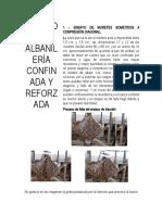 Ensayos en Albañilería confinada y reforzada 2