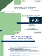presentación.  Programa alto rendimiento.  Serie  1.  Cognición, evaluación y psicometría