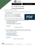 Producto Académico N 01 QUINCHO ROJAS, Julio Oscar