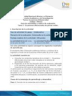 Guía de actividades y rúbrica de evaluación - Unidad 1- Tarea 1 - Ecuaciones diferenciales de primer orden.