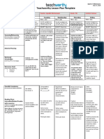 neuro nine lesson plan template fillable-word