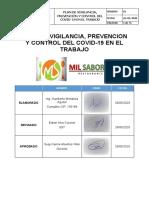 PLAN DE VIGILANCIA, PREVENCION Y CONTROL PARA UN RESTAURANT