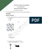 Cuestionarios resueltos de cristalografía