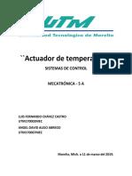SISTEMAS DE CONTROL, ACTUADOR DE TEMPERATURA
