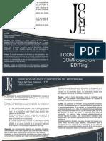 JOCME - I Concurso de Composición