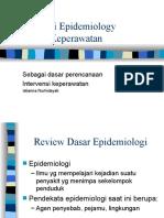 Aplikasi Epidemiology dalam Keperawatan