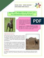 P.S. M 13-DÍA DEL PERRO PERUANO   -13-06-2020- 2DO GRADO