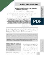 La Licencia Por Año Sabático en El Trabajo Médico Del Perú - Autor José María Pacori Cari