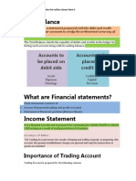 financial statement theory notes