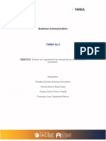 Tarea 3 - Business Communcation