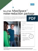 Leaflet Kone Maxispace Noise Reduction Package Uk 2016 Tcm109 18408