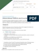 Diff between Delete, Drop and truncate SQL
