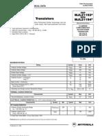 Транзистор MJL21194