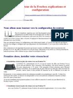 Le routeur de la Freebox explications et configuration