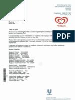 WALLS Halal List