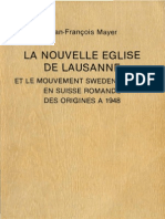Jean Francois Mayer La Nouvelle Eglise de Lausanne 1917 1948 Swedenborg Verlag Zurich 1984