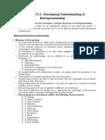enterprenuership level 1