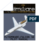 Flysimware's FALCON 50 MANUAL V2.2