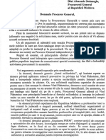 Scrisoarea deschisă a fostului șef al Procuraturii Anticorupție, Viorel Morari, către Procurorul General