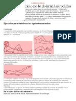 EJERCICIO FÍSICO- dolor rodilla