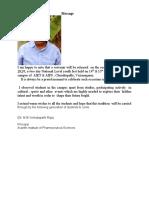 Pharmacy Principal Message AVENSIS
