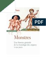 Monstres histoires generale de la teratologie