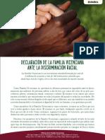 [Español] Declaración de la Familia Vicenciana ante la discriminación racial