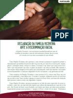 [Português] Declaração da Família Vicentina ante a discriminação racial