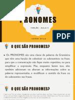 Aula 3 - pronomes