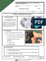 Devoir de Contrôle - Technologie fonctions universelles climatiseur d'une voiture - 2ème Sciences (2014-2015) Mr tarek.pdf