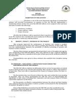 "SHS-SSG ACCOMPLISHMENT REPORT SY-19 ""OPLAN DISIPLINA"""