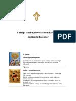Važniji sveci u pravoslavnom kalendaru