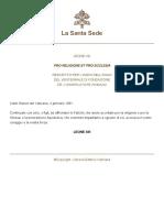 Leone XIII - Pro religione et pro ecclesia 1881