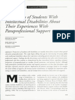 ea article-perspectives of students with intellectual disabilities