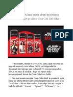 Comunicat de presa Coca-Cola