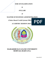 MBA General Syllabus