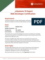 OutSystems 10 Expert Developer Certification