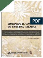 2020  Quinteros sembrando-el-corazón de nuestra palabra Asignaturas lengua indígena México