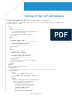 Sample cXML Purchase Order with Annotations