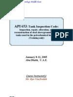 API 653 Tank Inspection Code