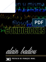 Alain Badiou - Condiciones [1992]