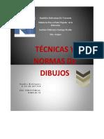 Tecnicas y Normas de Dibujos Dibujo II Escala, Normas de Acotacion,Perspectiva y proyección